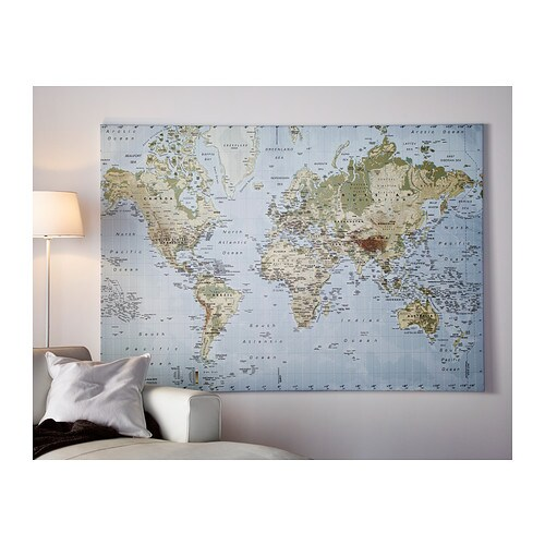 tableau carte du monde ikea maison design