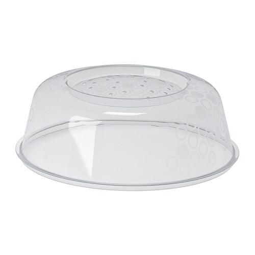 PRICKIG - Microwave lid, gray blue