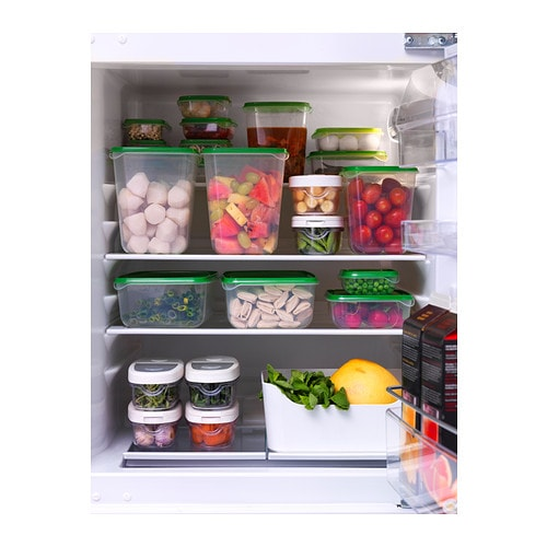 PRUTA Food container, set of 17 IKEA So economical you can send leftovers home with your guests.  See contents without removing lid.