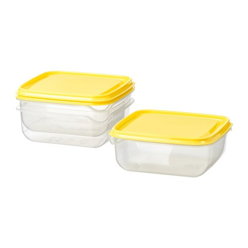 PRUTA   Food Container, Clear, Yellow