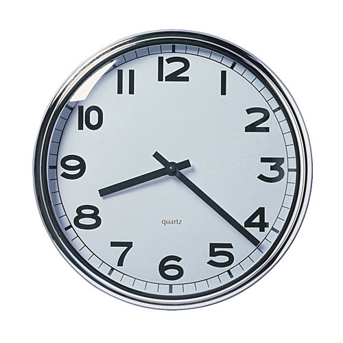 PUGG Wall clock, stainless steel chrome plated
