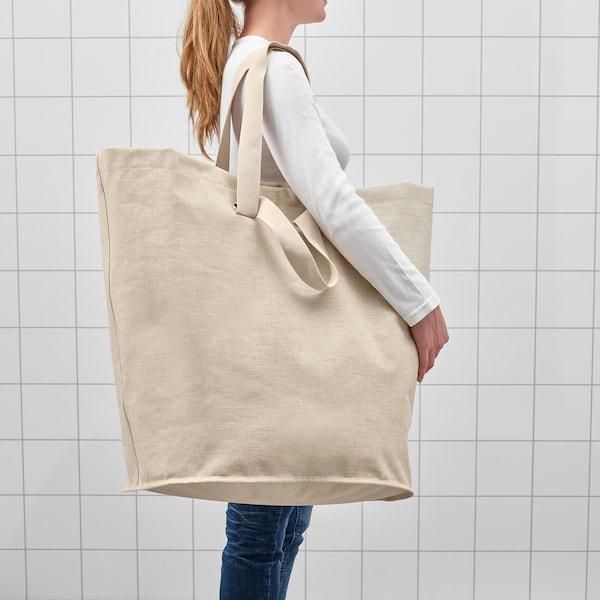 PURRPINGLA Laundry bag, beige, 26 gallon