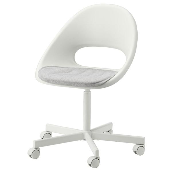 "PYNTEN Seat pad, light gray, 16 ¼x17 """