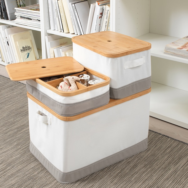 "RABBLA Box with lid, 13 ¾x19 ¾x11 ¾ """