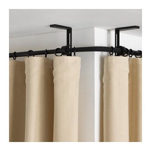 RÄCKA Curtain rod corner connector - black, - IKEA
