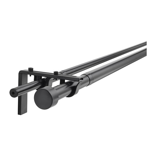 RACKA HUGAD Double Curtain Rod Combination