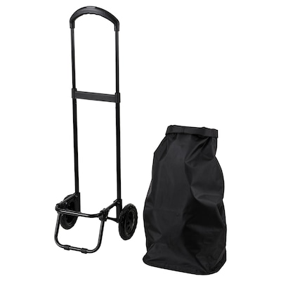 "RADARBULLE Shopping bag with wheels, black, 13x9 ½x26 ¾ ""/1285 oz"