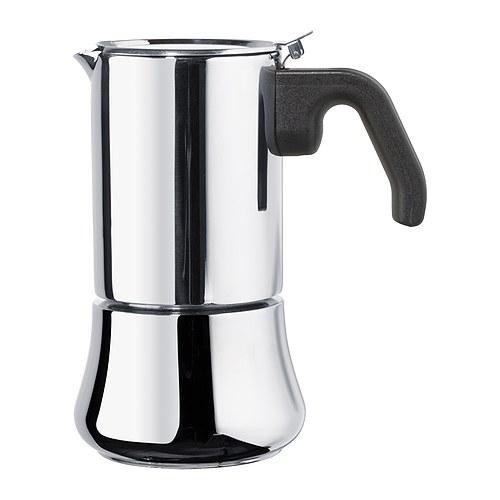 RÅDIG Espresso pot for 6 cups, stainless steel