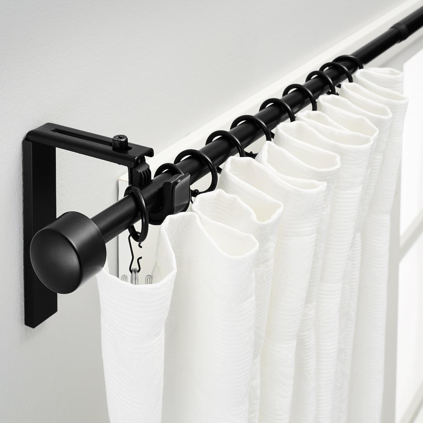 Racka Curtain Rod Combination Black Ikea
