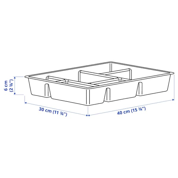 RAGGISAR Tray, dark gray, 15 3/4x11 3/4 ""