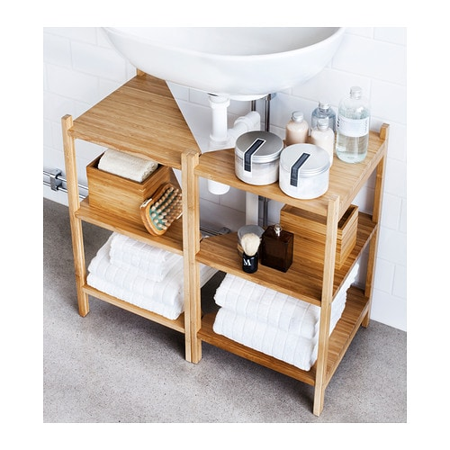 Cool Lipper International Bamboo OvertheSink Shelf Modernkitchensinks