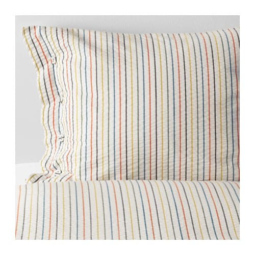 RAJGRÄS Duvet cover and pillowcase(s), stripe stripe Full/Queen (Double/Queen)