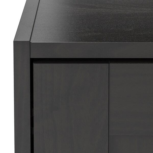"RAKKESTAD Wardrobe with sliding doors, black-brown, 46 1/8x69 1/4 """
