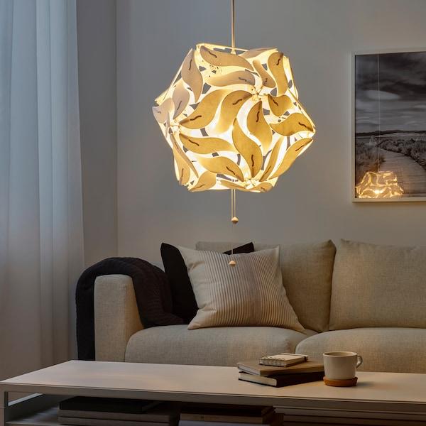 """RAMSELE Pendant lamp, flower/white, 17 """""""