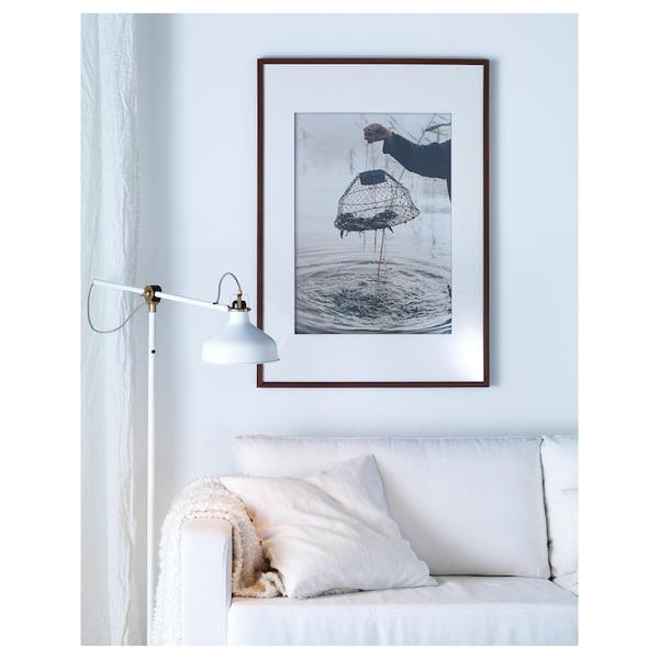 RANARP Floor/reading lamp with LED bulb, off-white