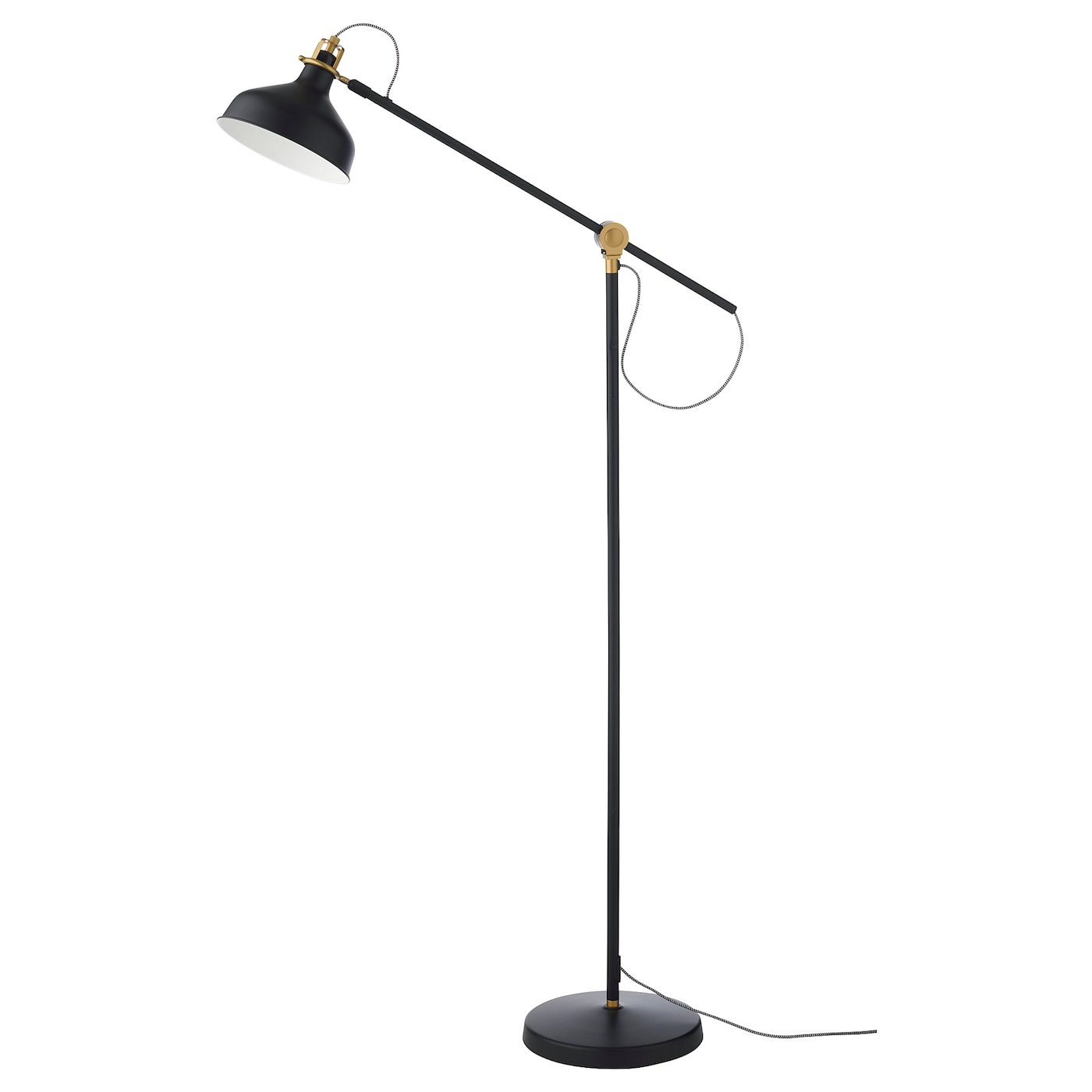 Ranarp Floor Reading Lamp With Led Bulb Black Ikea
