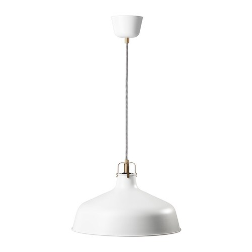 RANARP Pendant lamp IKEA Gives a directed light. Good for lighting dining tables or a bar area.