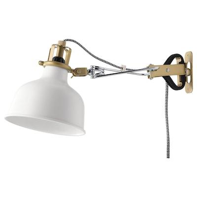 RANARP Wall/clamp spotlight, off-white