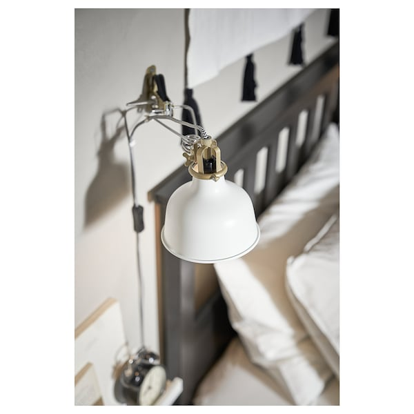 RANARP Wall/clamp spotlight with LED bulb, off-white