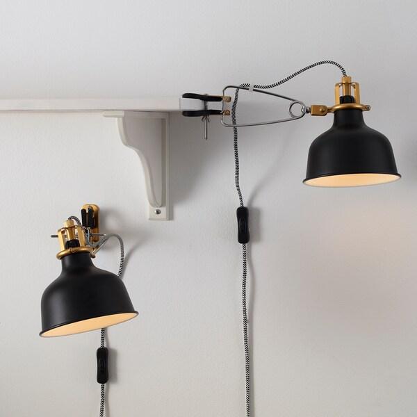 "RANARP wall/clamp spotlight black 7 W 6 "" 13 "" 5 "" 6 "" 138 """