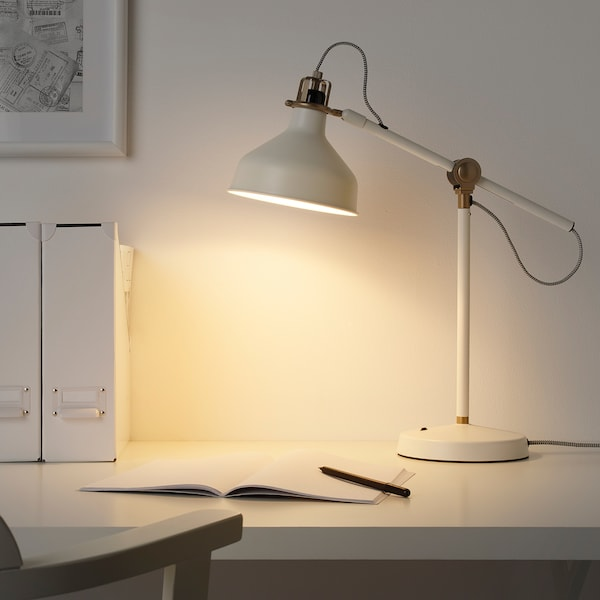 RANARP Work lamp with LED bulb, off-white