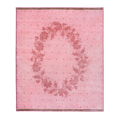 RARING Rug, low pile, pink pink 4 ' 4
