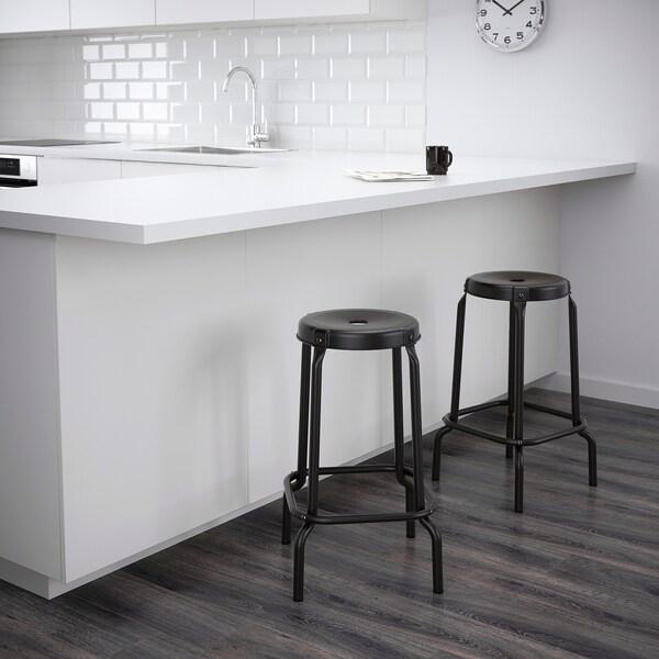 """RÅSKOG Bar stool, black, 24 3/4 """""""