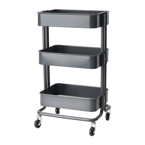 RÅSKOG Kitchen cart IKEA The sturdy construction and four casters make it easy for you to move the cart and use it wherever you like.