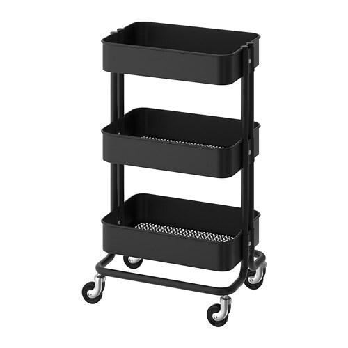 RÅSKOG - Utility cart, black
