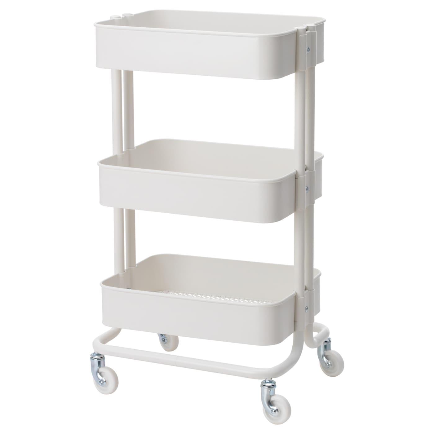 "RÅSKOG Utility cart, white, 13 3/4x17 3/4x30 3/4 "" - Perfect for Ikea classroom"