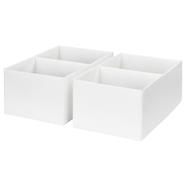 """RASSLA box with compartments white 9 ¾ """" 16 ¼ """" 6 ¼ """" 2 pack"""