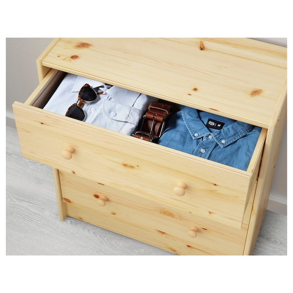 "RAST 3-drawer chest pine 24 3/8 "" 11 3/4 "" 26 3/4 "" 9 7/8 """