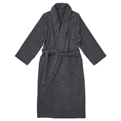 RASTÄLVEN Bathrobe, dark gray, L/XL