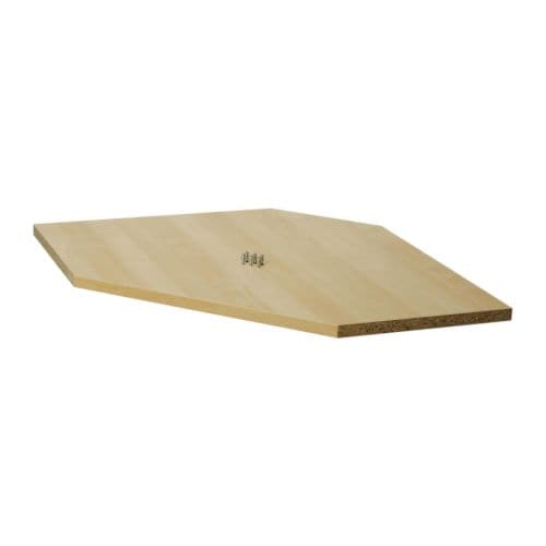 RATIONELL Shelf for corner wall cabinet , birch effect Length: 23 1/2