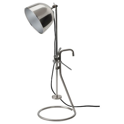 RÅVAROR Clamp table lamp, stainless steel