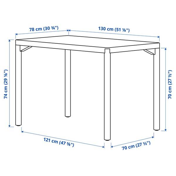 """RÅVAROR Dining table, oak veneer, 51 1/8x30 3/4 """""""