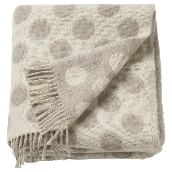 RÅVAROR Throw, beige, 59x79 ""