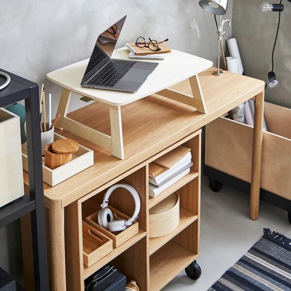 "RÅVAROR Tray, foldable birch plywood, 17x23 """