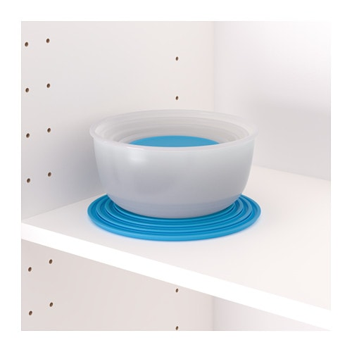 REDA Food container, set of 5 IKEA Empty food containers can be stacked inside one another to save space.  BPA free.