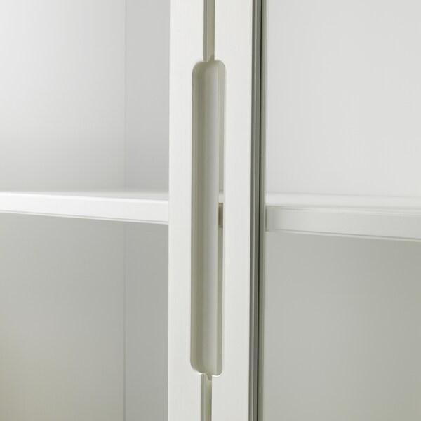 """REGISSÖR Glass-door cabinet, white, 46 1/2x79 7/8 """""""