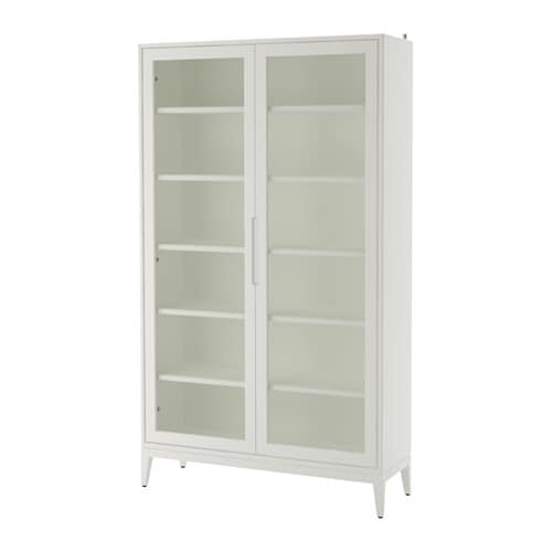 Regiss r glass door cabinet white ikea for Meuble vitrine ikea
