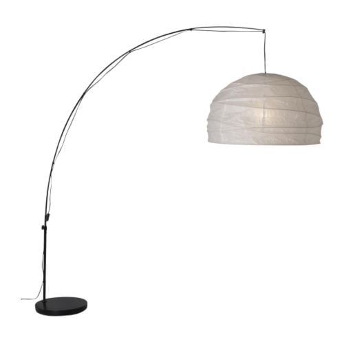 REGOLIT Floor lamp, arc IKEA Suitable for use above a coffee table; does not have to be ceiling mounted but is connected to an ordinary wall socket.