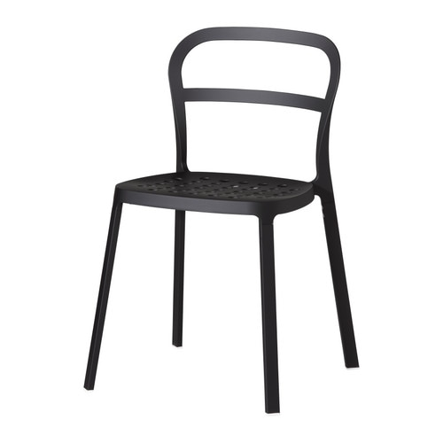 REIDAR Chair IKEA Chair entirely of aluminum, which makes it able to withstand being outdoors year round.