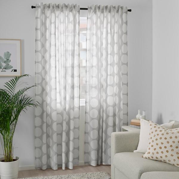 """REIDUNN Curtains, 1 pair, white/gray, 57x98 """""""