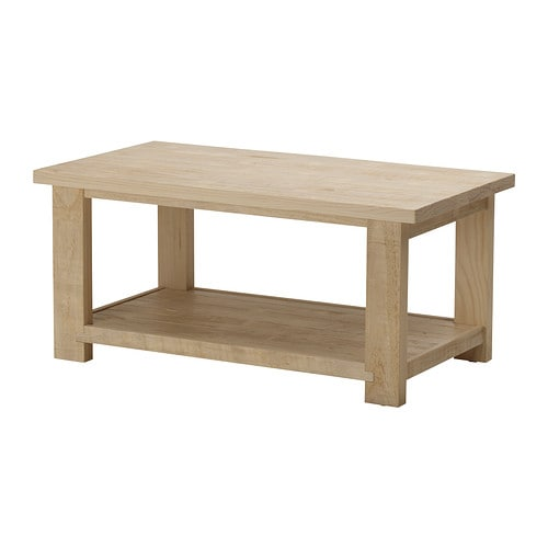 Rekarne coffee table ikea for Pine desk ikea
