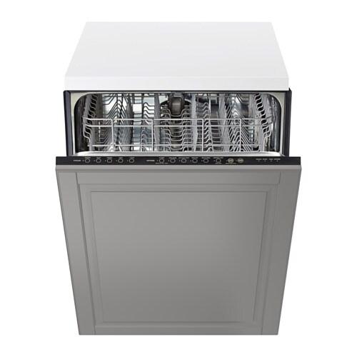 RENLIG Built-in dishwasher with door, Bodbyn gray Bodbyn gray