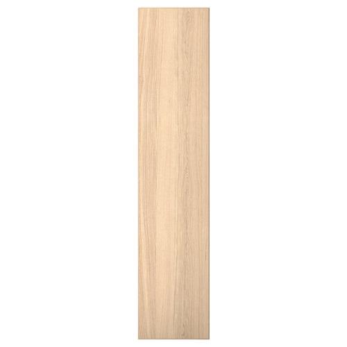 """REPVÅG door with hinges white stained oak veneer 19 1/2 """" 90 3/8 """" 93 1/8 """" 3/4 """""""
