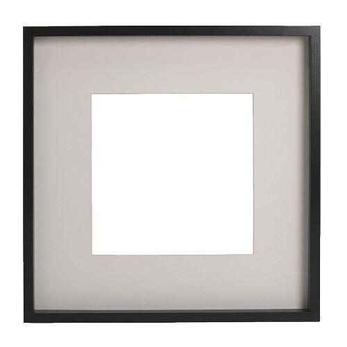 RIBBA Frame, black black 19 ¾x19 ¾
