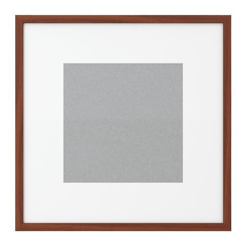 ribba frame medium brown ikea