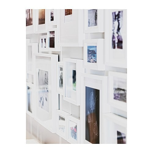RIBBA Frame IKEA You can place the motif on the front or back of the extra deep frame. The mat enhances the picture and makes framing easy.